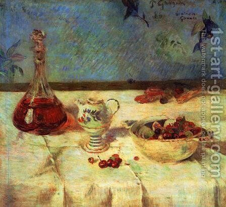 The White Tablecloth Aka Still Life With Cherries by Paul Gauguin - Reproduction Oil Painting