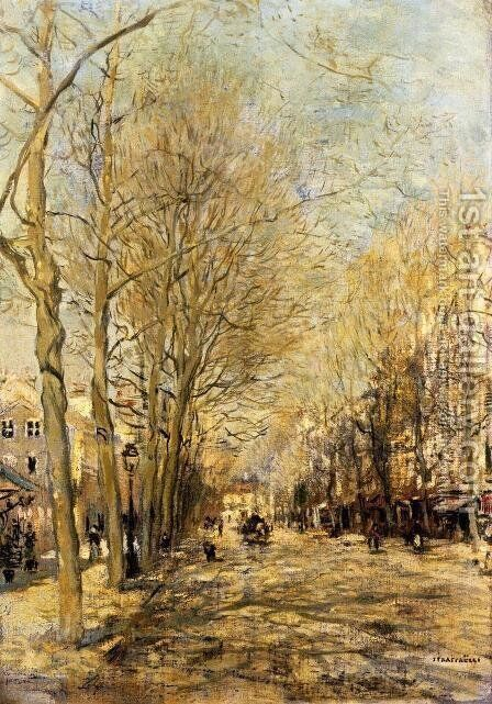 A Boulevard by Jean-Francois Raffaelli - Reproduction Oil Painting