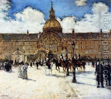 Les Invalides Napoleons Tomb by Jean-Francois Raffaelli - Reproduction Oil Painting