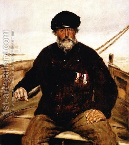 Pere Altazin  Chief Lifeguard Of Honfleur by Jean-Francois Raffaelli - Reproduction Oil Painting