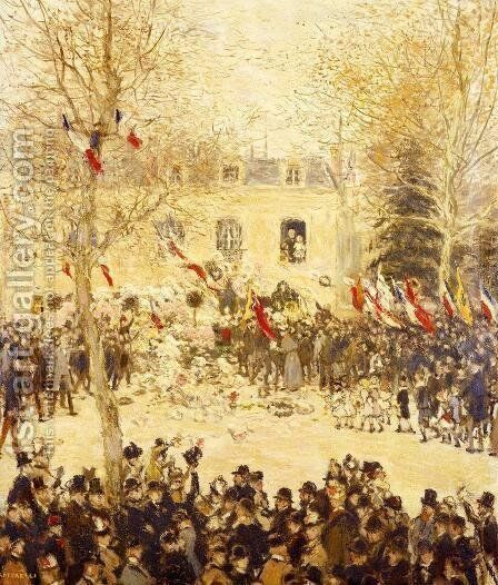 The Festival For The 80th Birthday Of The Poete by Jean-Francois Raffaelli - Reproduction Oil Painting
