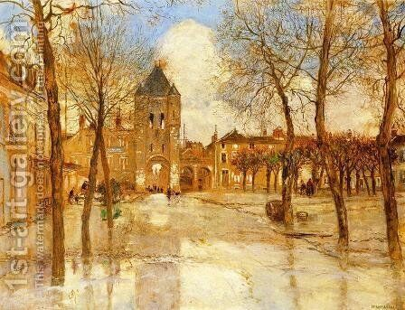 The Flood by Jean-Francois Raffaelli - Reproduction Oil Painting