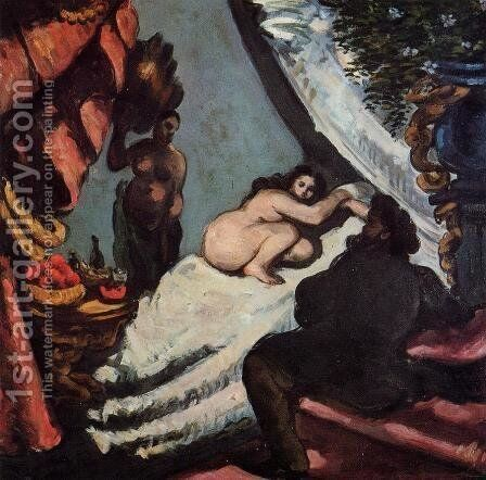 A Modern Olympia (Pasha by Paul Cezanne - Reproduction Oil Painting