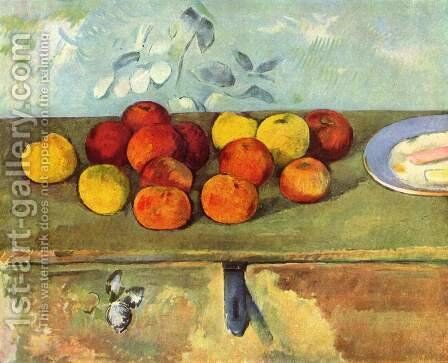 Apples And Biscuits by Paul Cezanne - Reproduction Oil Painting