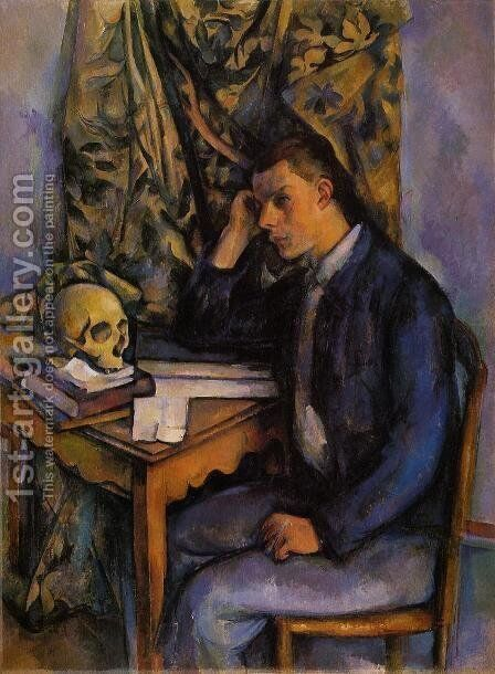 Boy With Skull by Paul Cezanne - Reproduction Oil Painting