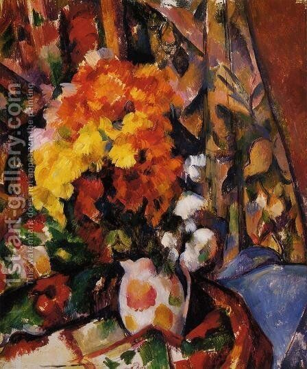 Chrysanthemums by Paul Cezanne - Reproduction Oil Painting