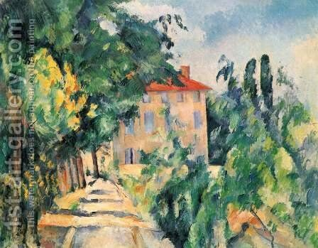 House With Red Roof by Paul Cezanne - Reproduction Oil Painting