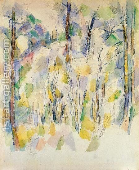 In The Woods2 by Paul Cezanne - Reproduction Oil Painting