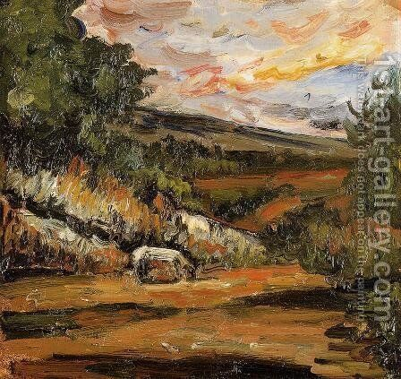 Landscape by Paul Cezanne - Reproduction Oil Painting