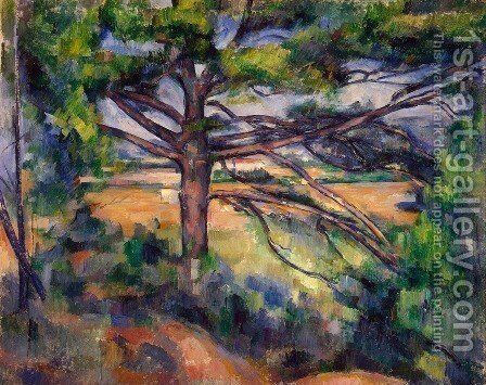 Large Pine And Red Earth by Paul Cezanne - Reproduction Oil Painting
