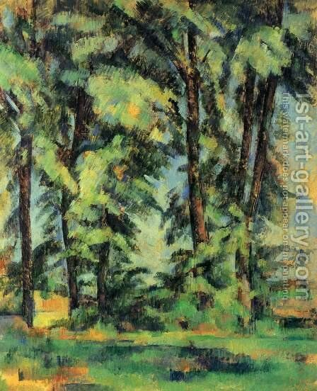 Large Trees At Jas De Bouffan by Paul Cezanne - Reproduction Oil Painting