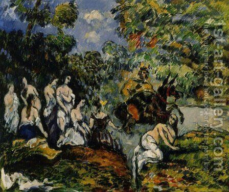 Legendery Scene by Paul Cezanne - Reproduction Oil Painting