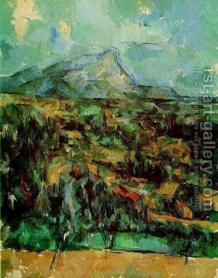 Mont Sainte Victoire8 by Paul Cezanne - Reproduction Oil Painting