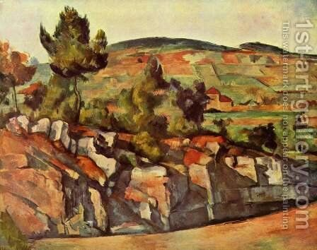 Mountains In Provence by Paul Cezanne - Reproduction Oil Painting
