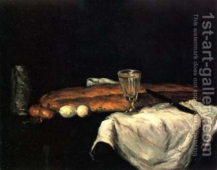 Still Life With Bread And Eggs by Paul Cezanne - Reproduction Oil Painting