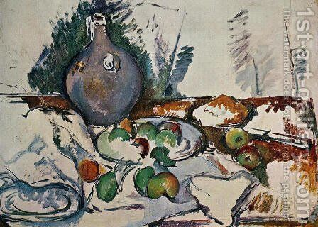 Still Life With Water Jug by Paul Cezanne - Reproduction Oil Painting