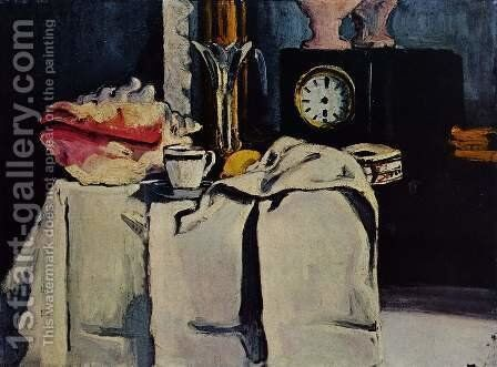 The Black Clock by Paul Cezanne - Reproduction Oil Painting