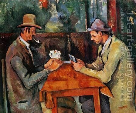 The Card Players by Paul Cezanne - Reproduction Oil Painting