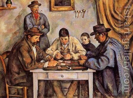 The Card Players2 by Paul Cezanne - Reproduction Oil Painting