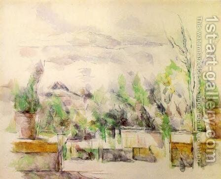 The Garden Terrace At Les Lauves by Paul Cezanne - Reproduction Oil Painting
