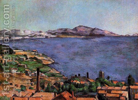 The Gulf Of Marseilles Seen From L Estaque by Paul Cezanne - Reproduction Oil Painting