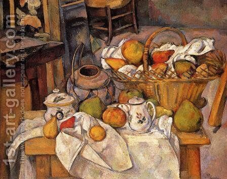 The Kitchen Table by Paul Cezanne - Reproduction Oil Painting