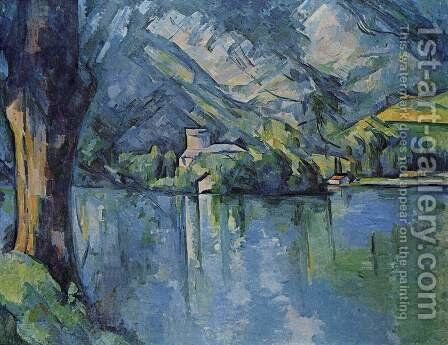 The Lac D Annecy by Paul Cezanne - Reproduction Oil Painting