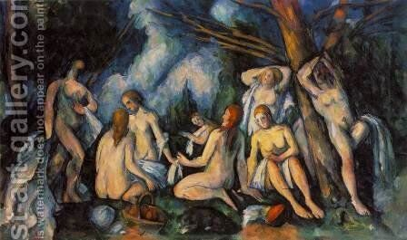 The Large Bathers by Paul Cezanne - Reproduction Oil Painting