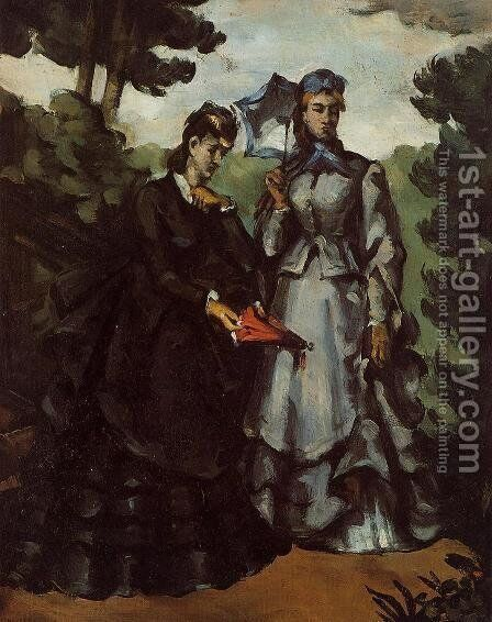 The Promenade by Paul Cezanne - Reproduction Oil Painting