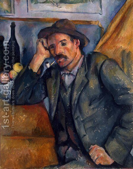 The Smoker by Paul Cezanne - Reproduction Oil Painting