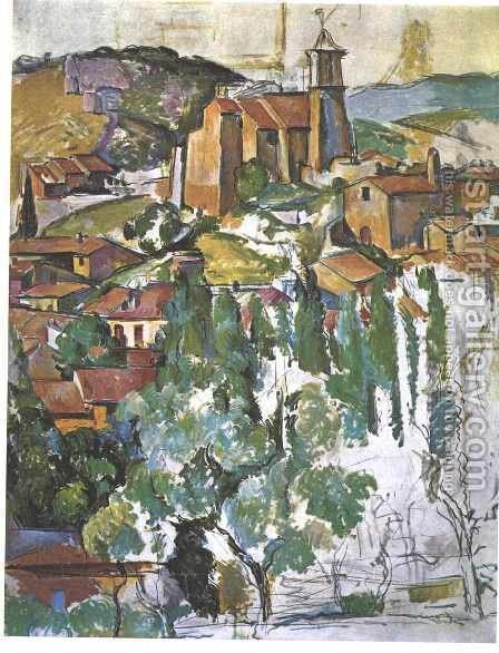 The Village Of Gardanne by Paul Cezanne - Reproduction Oil Painting