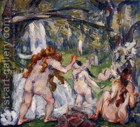 Three Bathers2 by Paul Cezanne - Reproduction Oil Painting