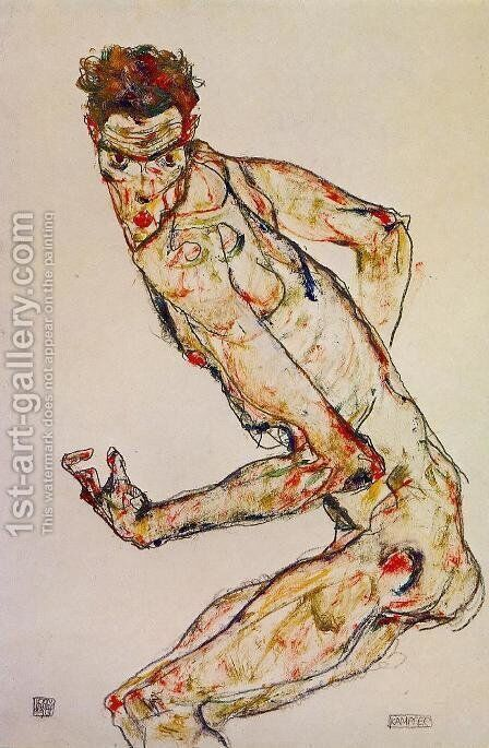 Fighter by Egon Schiele - Reproduction Oil Painting