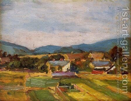 Landscape In Lower Austria by Egon Schiele - Reproduction Oil Painting