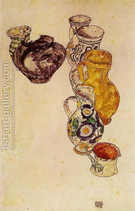 Peasants Jug by Egon Schiele - Reproduction Oil Painting