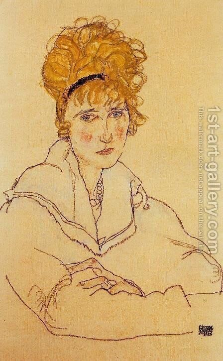 Portrait Of Edith Schiele by Egon Schiele - Reproduction Oil Painting
