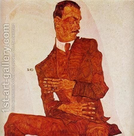 Portrait Of Karl Zakovsek by Egon Schiele - Reproduction Oil Painting