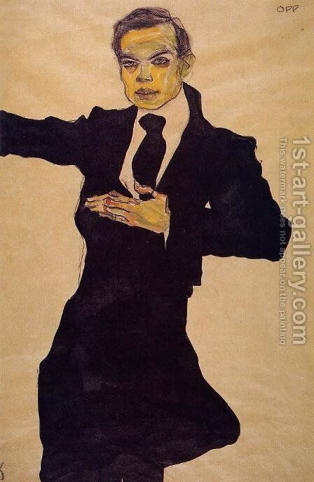 Portrait Of The Painter Max Oppenheimer by Egon Schiele - Reproduction Oil Painting