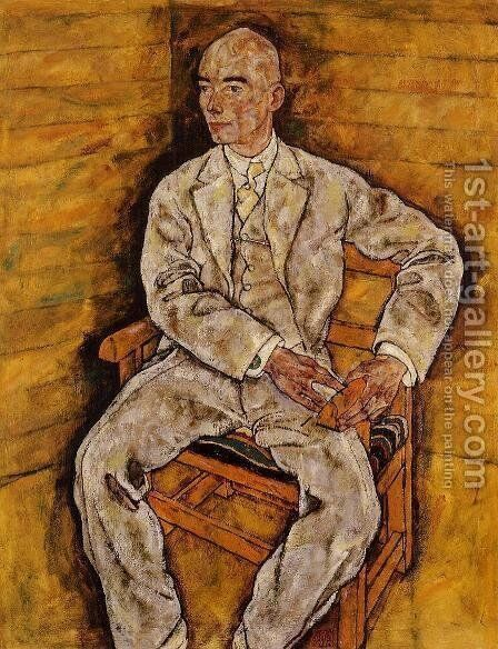 Portrait Of Victor Ritter Von Bauer by Egon Schiele - Reproduction Oil Painting