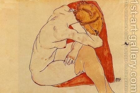 Seated Woman by Egon Schiele - Reproduction Oil Painting