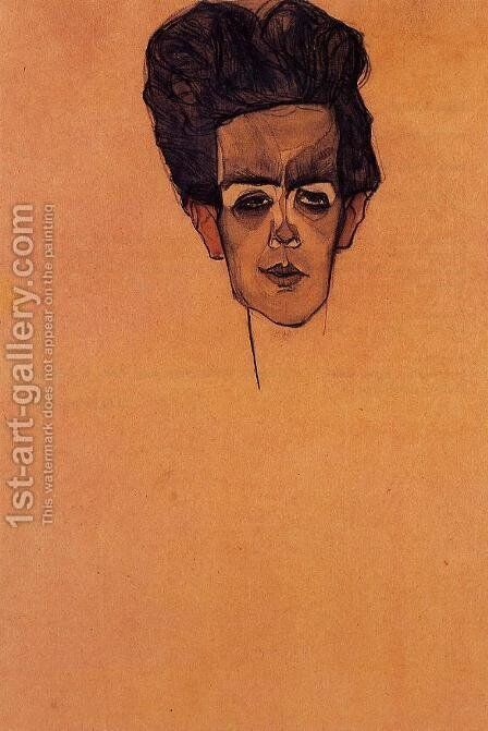 Self Portrait5 by Egon Schiele - Reproduction Oil Painting