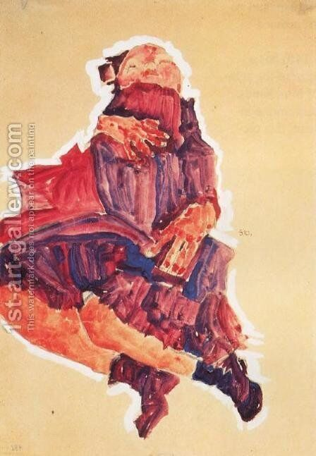 Sleeping Child by Egon Schiele - Reproduction Oil Painting