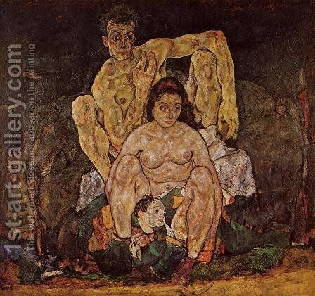 The Family by Egon Schiele - Reproduction Oil Painting