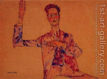 Willy Lidi by Egon Schiele - Reproduction Oil Painting