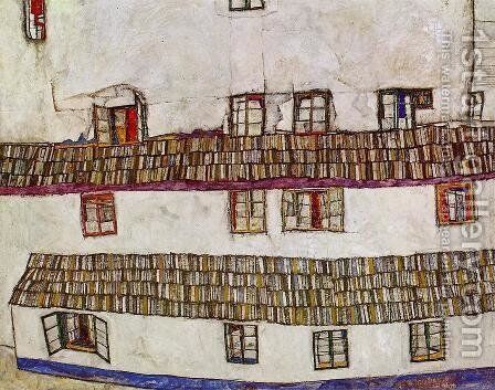 Windows Aka Facade Of A House by Egon Schiele - Reproduction Oil Painting