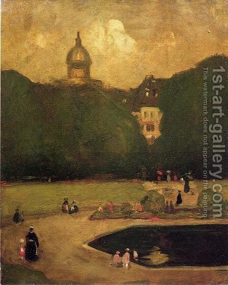 Au Jardin Du Luxembourg by Robert Henri - Reproduction Oil Painting