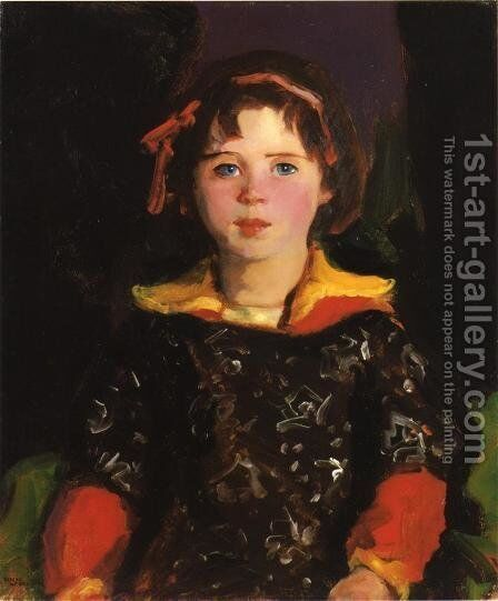 Bridgie Aka Girl With Chinese Dress by Robert Henri - Reproduction Oil Painting