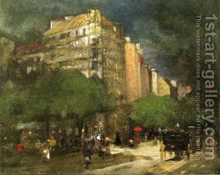 Cafe Du Dome Aka On The Boulevard Montparnasse by Robert Henri - Reproduction Oil Painting