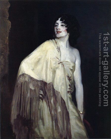 Dancer In A Yellow Shawl by Robert Henri - Reproduction Oil Painting