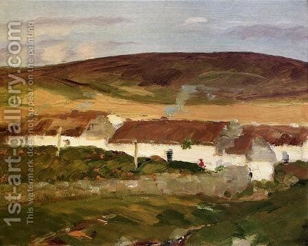 Irish Cottage by Robert Henri - Reproduction Oil Painting